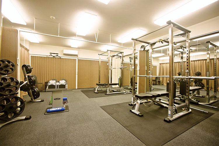 完全予約制の個室トレーニングルーム